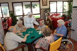 Ancianos en la Residencia Jesús del Buen Amorde Griñón
