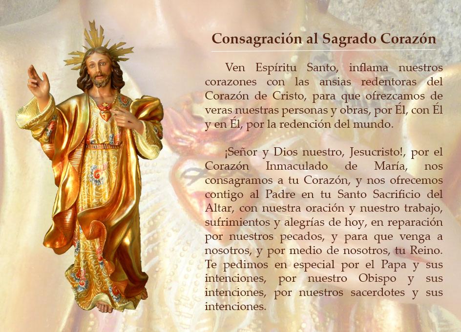 Consagración al Sagrado Corazón de Jesús