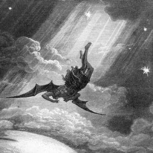 «Estaba viendo a Satanás caer del cielo como un rayo» (Lc 10, 18) grabado de Gustavo Doré
