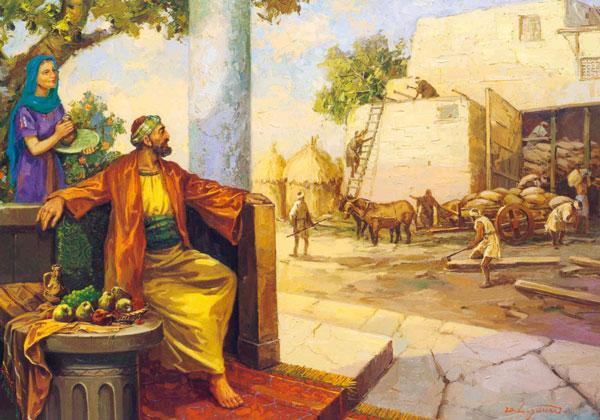 El rico necio contemplando sus graneros