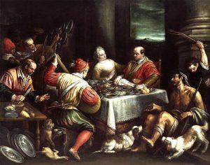 Rico epulón y Lázaro