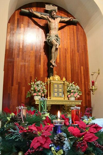 Cristo de la reparación y la corona de Adviento. Escorial