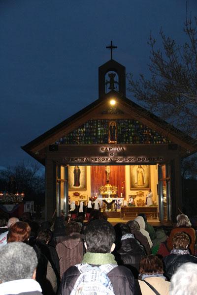 Adoración primer sabado de mes de diciembre. Capilla Nuestra Señora de los Dolores