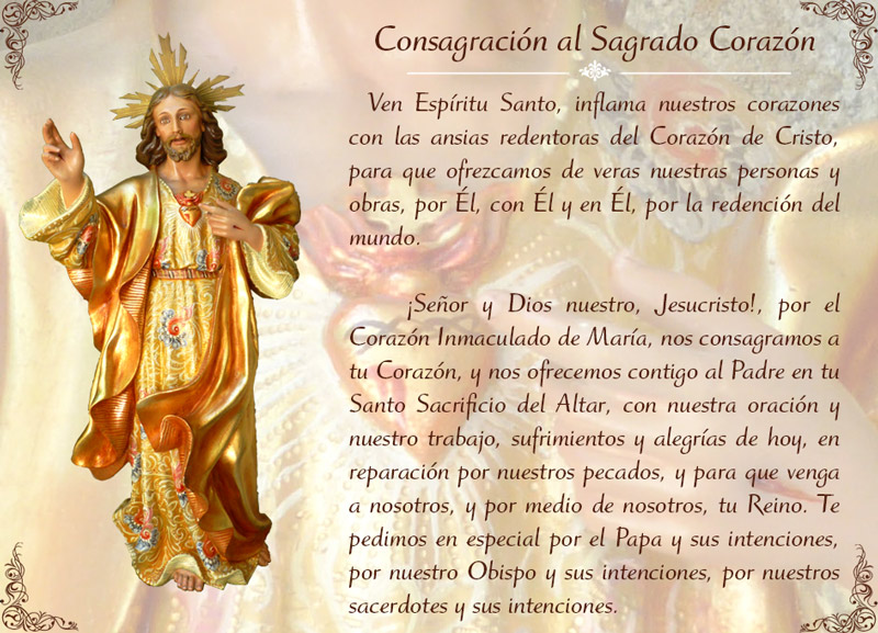 oracion sagrado corazon de jesus
