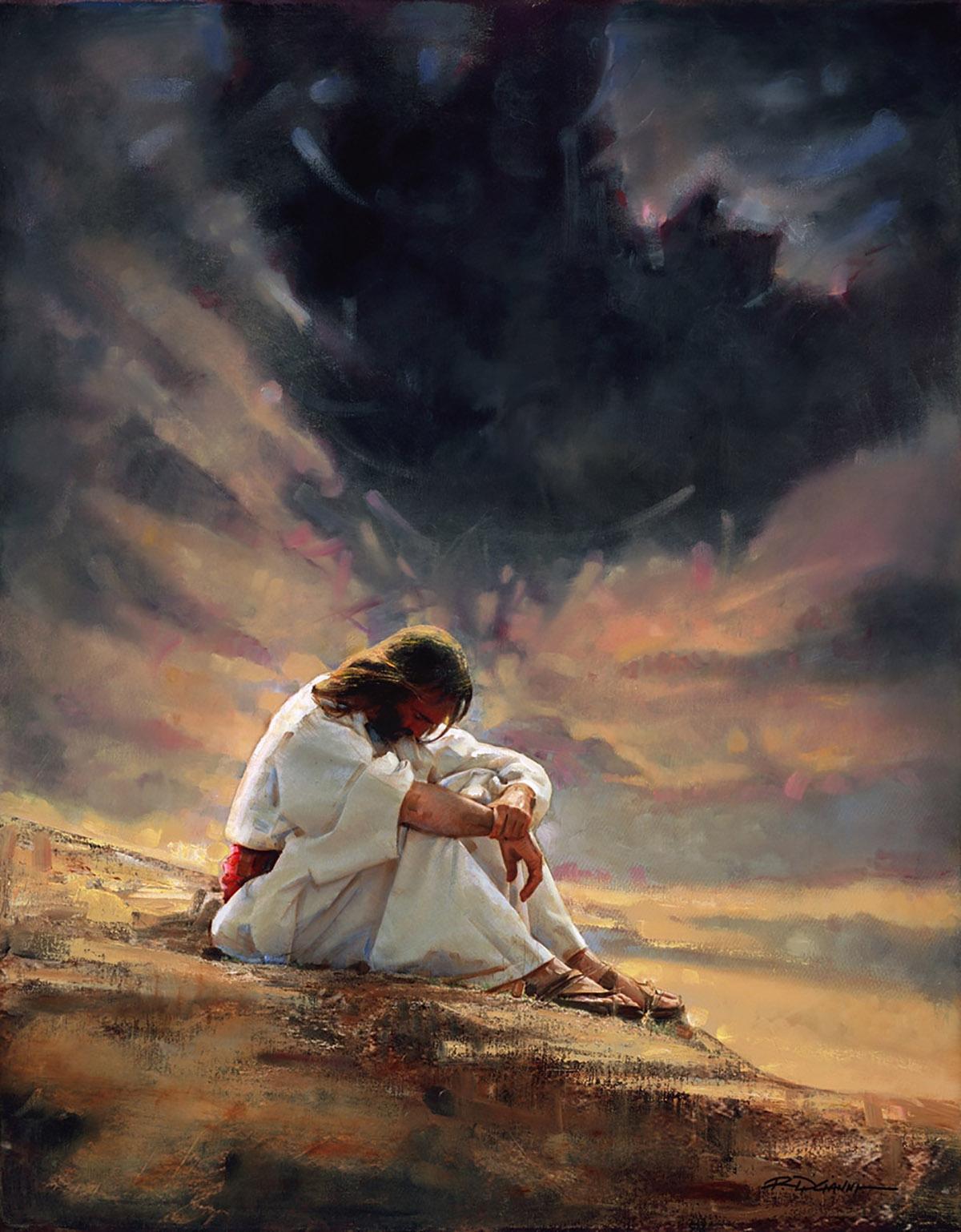 Jesús en el desierto (Autor: R. Di Cianni)