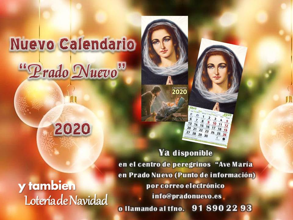 calendario 2020 prado nuevo